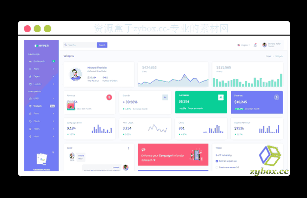 Bootstrap4官方模板Hyper - Responsive Bootstrap 4 Admin Dashboard v1.5.0